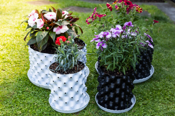 plant pot set of four