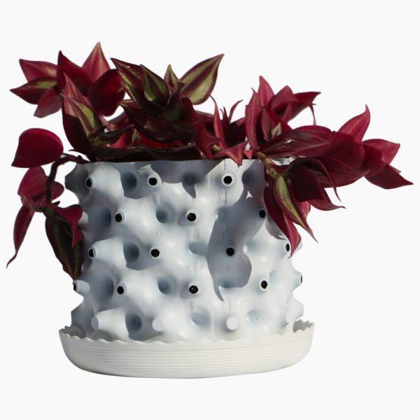greenroot planter 15 15 white new