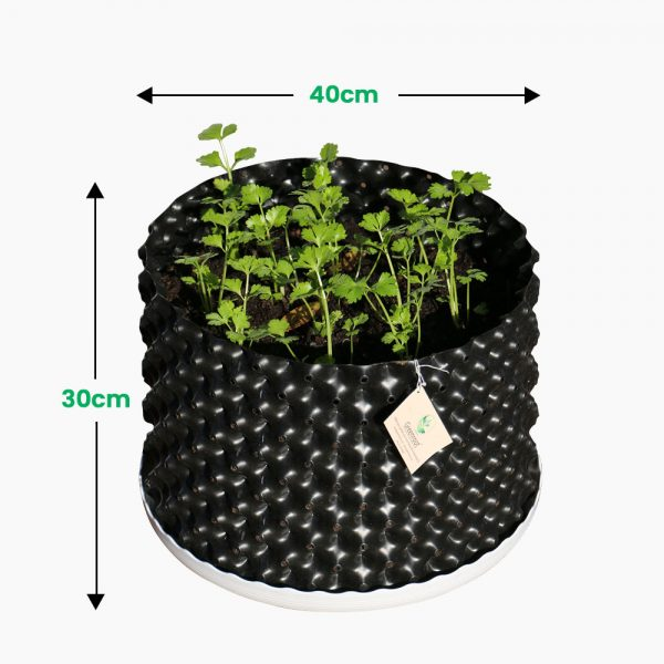 greenroot planters 40 30 black size