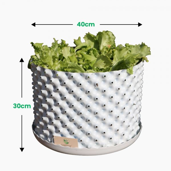 greenroot planters 40 30 white size
